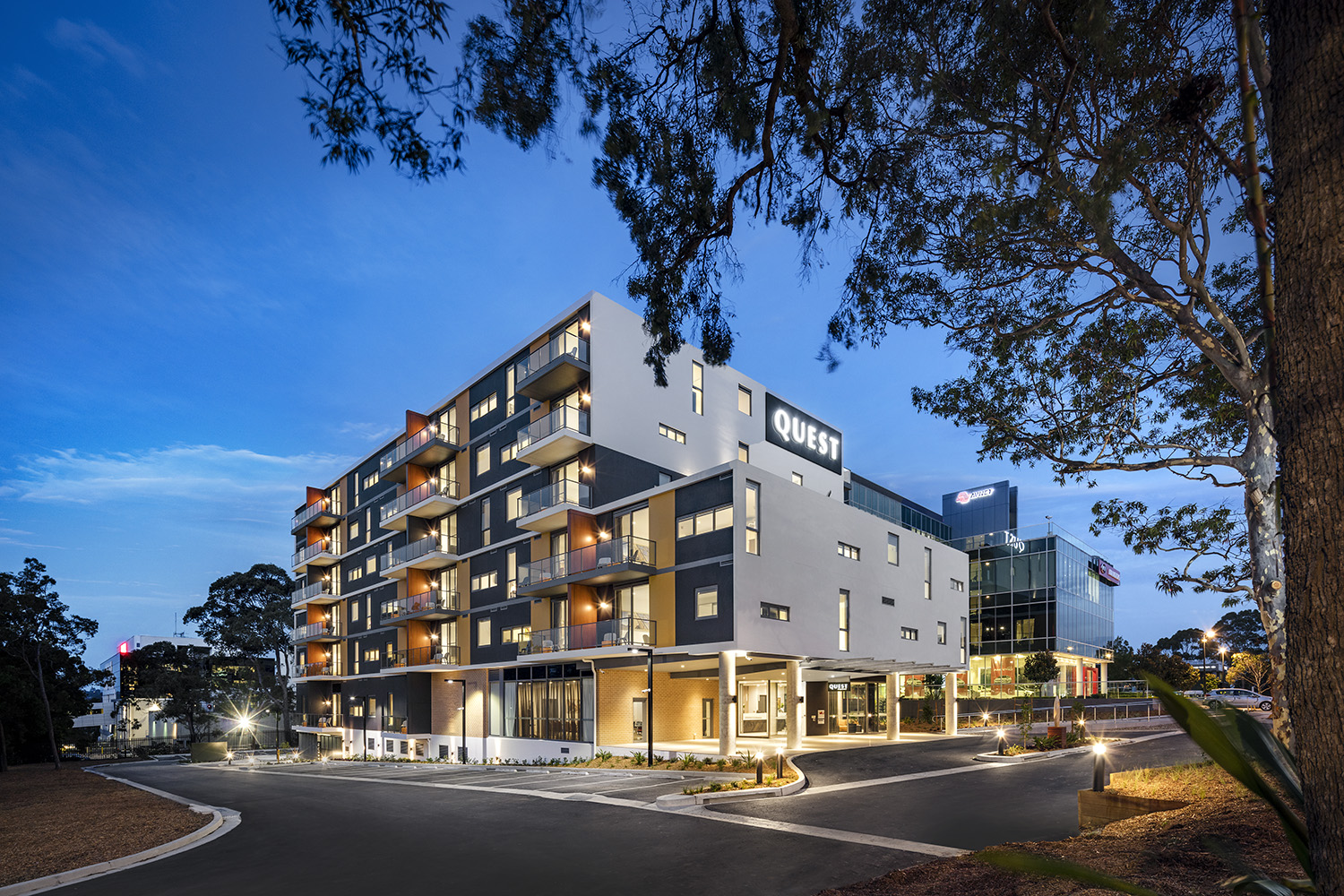Macquarie park serviced apartments accommodation quest for Appart hotel urban lodge chaudfontaine